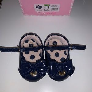 Navy blue baby dress shoes